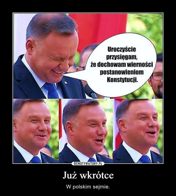 Już wkrótce – W polskim sejmie.