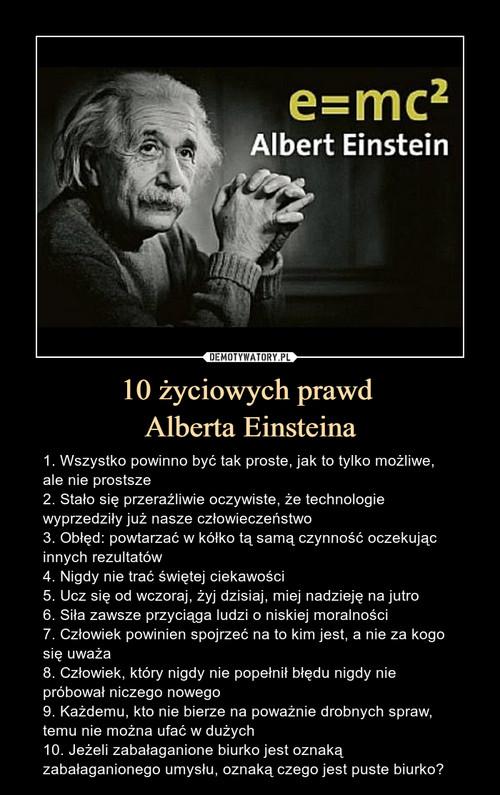 10 życiowych prawd  Alberta Einsteina