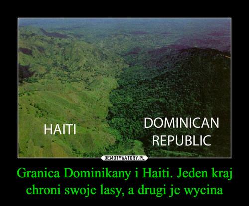 Granica Dominikany i Haiti. Jeden kraj chroni swoje lasy, a drugi je wycina