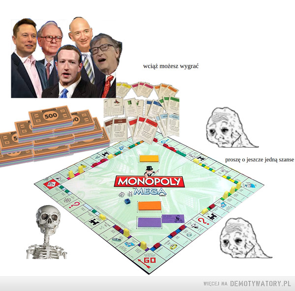Kilku multimiliarderów posiadają więcej pieniędzy niż  połowa ludzkości, a ich majątek wciąż rośnie pomimo kryzysu. –