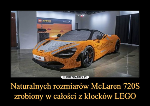 Naturalnych rozmiarów McLaren 720S zrobiony w całości z klocków LEGO –