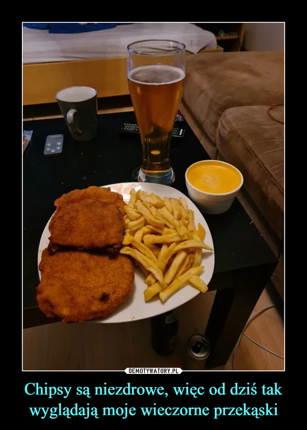 Chipsy są niezdrowe, więc od dziś tak wyglądają moje wieczorne przekąski –
