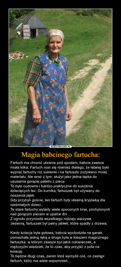 Magia babcinego fartucha: