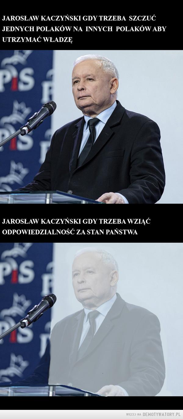 Jarosław Kaczyński gdy –