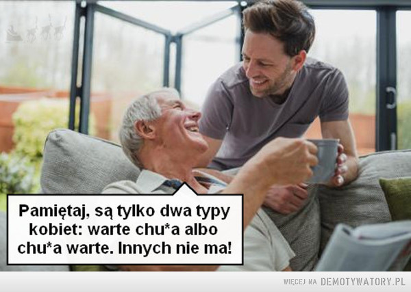 Dziadek poucza wnuczka –