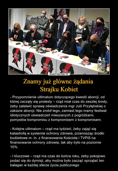 Znamy już główne żądania  Strajku Kobiet