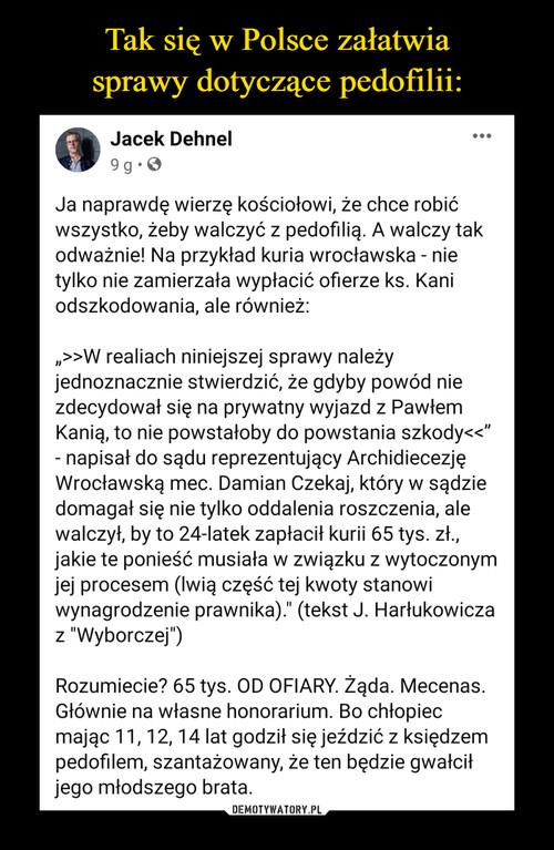 Tak się w Polsce załatwia sprawy dotyczące pedofilii: