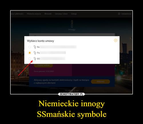 Niemieckie innogy SSmańskie symbole