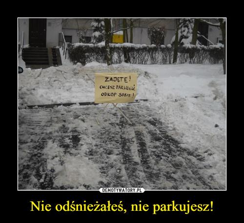 Nie odśnieżałeś, nie parkujesz!