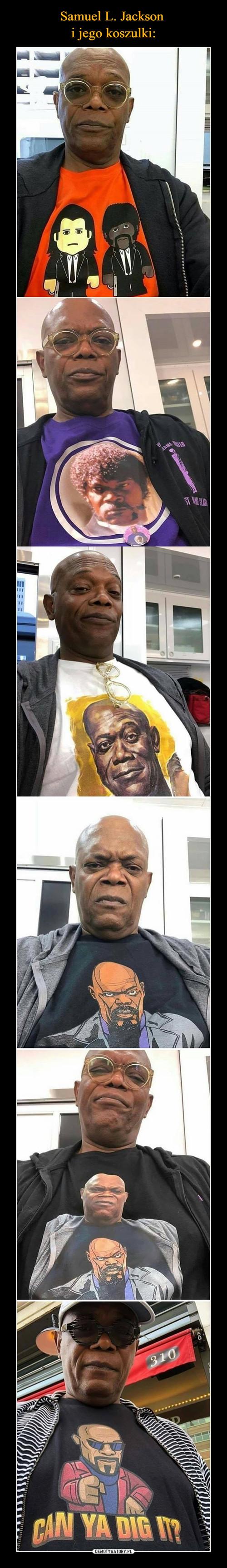 Samuel L. Jackson  i jego koszulki:
