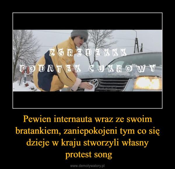 Pewien internauta wraz ze swoim bratankiem, zaniepokojeni tym co się dzieje w kraju stworzyli własny protest song –