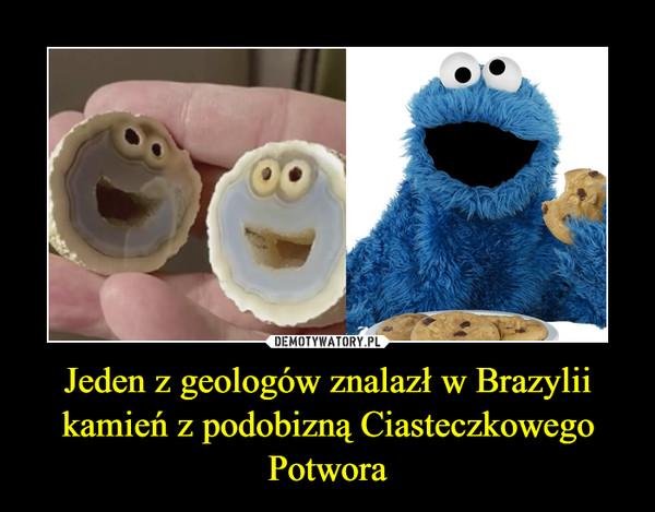 Jeden z geologów znalazł w Brazylii kamień z podobizną Ciasteczkowego Potwora –