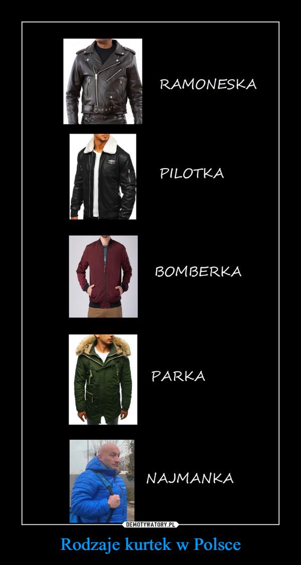 Rodzaje kurtek w Polsce –