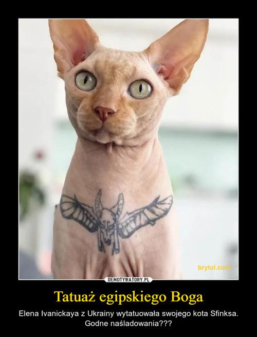 Tatuaż egipskiego Boga