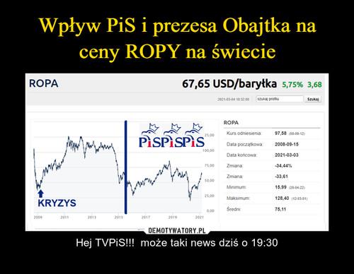 Wpływ PiS i prezesa Obajtka na ceny ROPY na świecie