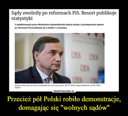 """Przecież pół Polski robiło demonstracje, domagając się """"wolnych sądów"""""""