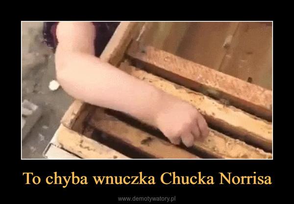 To chyba wnuczka Chucka Norrisa –