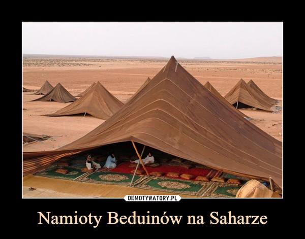 Namioty Beduinów na Saharze –