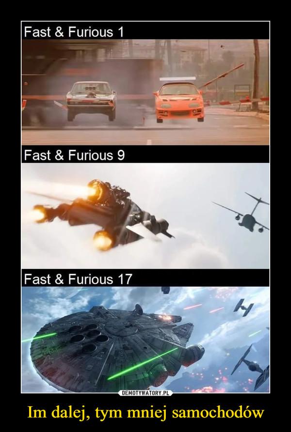 Im dalej, tym mniej samochodów –  Fast & Furious 1Fast & Furious 9Fast & Furious 17