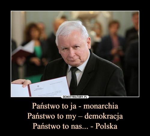 Państwo to ja - monarchia Państwo to my – demokracja Państwo to nas... - Polska