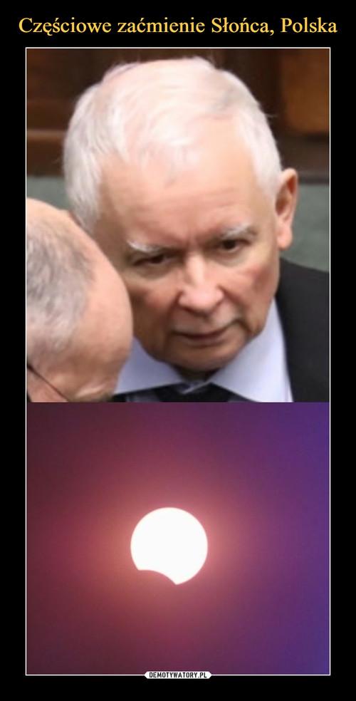 Częściowe zaćmienie Słońca, Polska