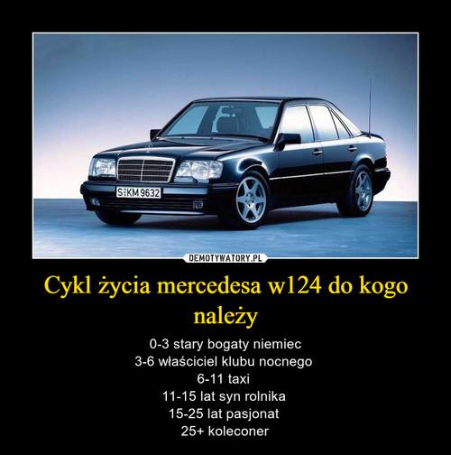 Cykl życia mercedesa w124 do kogo należy