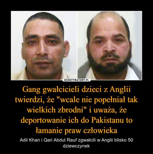 """Gang gwałcicieli dzieci z Anglii twierdzi, że """"wcale nie popełniał tak wielkich zbrodni"""" i uważa, że deportowanie ich do Pakistanu to łamanie praw człowieka"""