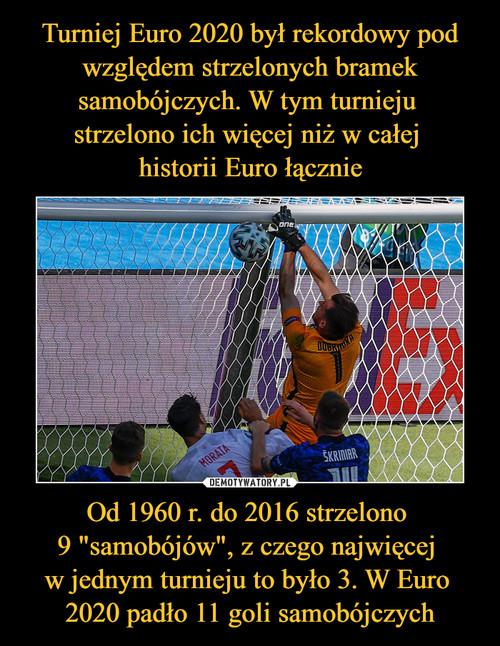"""Turniej Euro 2020 był rekordowy pod względem strzelonych bramek samobójczych. W tym turnieju  strzelono ich więcej niż w całej  historii Euro łącznie Od 1960 r. do 2016 strzelono  9 """"samobójów"""", z czego najwięcej  w jednym turnieju to było 3. W Euro  2020 padło 11 goli samobójczych"""