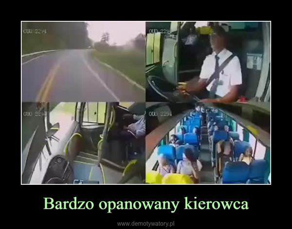 Bardzo opanowany kierowca –