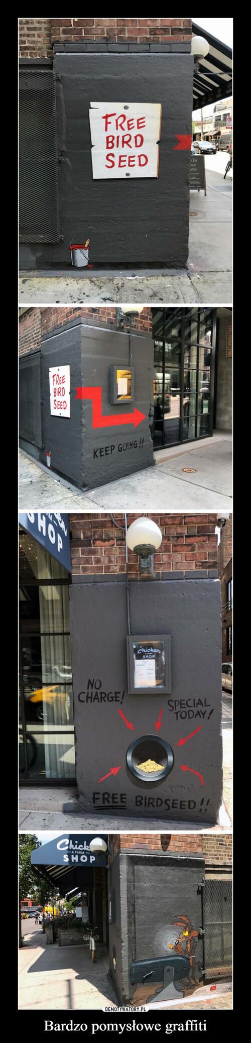 Bardzo pomysłowe graffiti